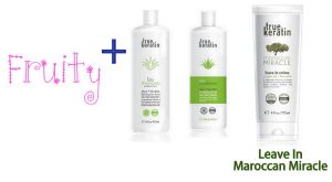 Soldes : Lissage Fruity + Ligne d'entretien + Leave In Maroccan Miracle