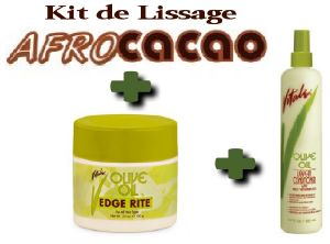 Kit de Lissage AfroCacao + Vitale Edge Rite + Vitale Spray Leave-in Anti-casse