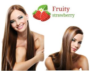 Kit de Lissage Brésilien Fruity Strawberry (Shampooing + lissage)