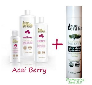 Promo : Kit de lissage True Keratin Acai Berry + Shampooing Maroccan Miracle