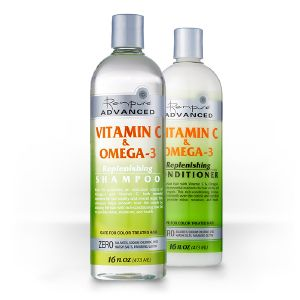 Renpure Advance : Vitamin C & Omega : Lisse et Enrichit(Shampooing + Conditioner)