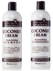 Renpure : Coconut Cream Shampooing  et Conditioner Nutrition sans SLS (473mlx2)